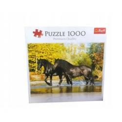 Puzzle Pemium Czarne Konie...
