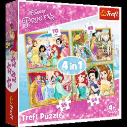 Trefl puzzle princess 4in1...