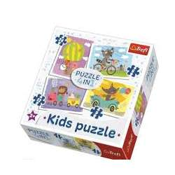 Puzzle 4w1 Pojazdy 91603