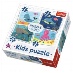 Puzzle 4w1 Wodny Świat 91604